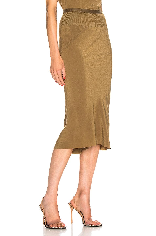 Image 2 of Rick Owens Knee Length Skirt in Mustard