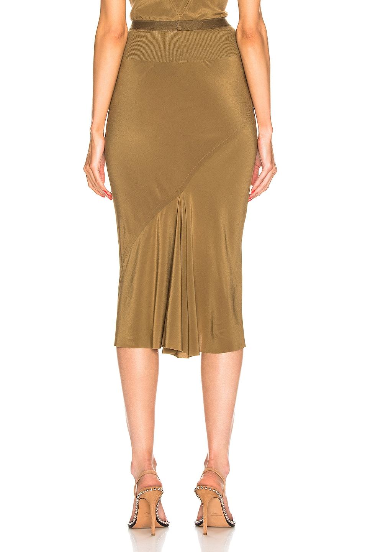Image 3 of Rick Owens Knee Length Skirt in Mustard