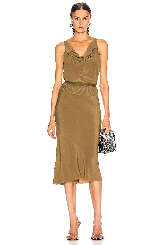 Image 4 of Rick Owens Knee Length Skirt in Mustard