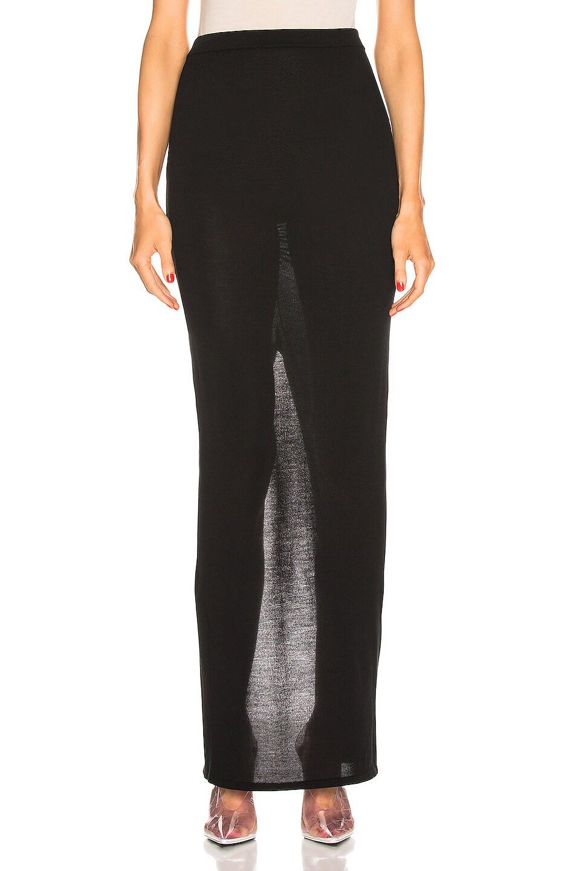 Image 1 of Rick Owens Pillar Skirt in Black