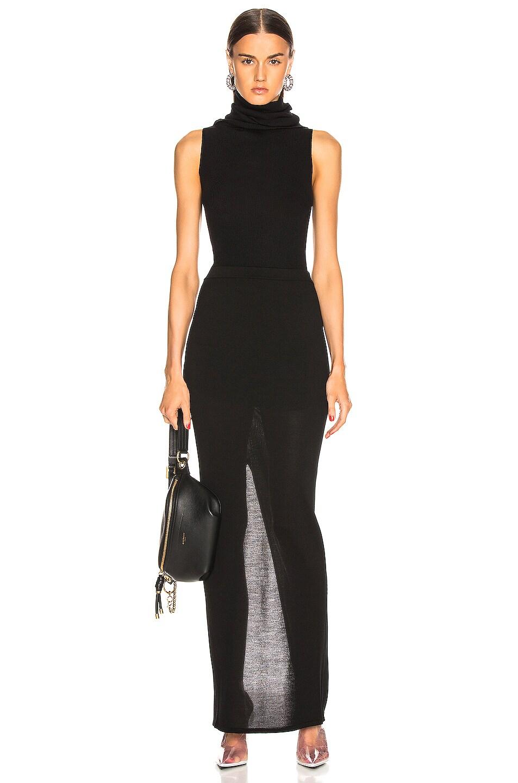 Image 4 of Rick Owens Pillar Skirt in Black