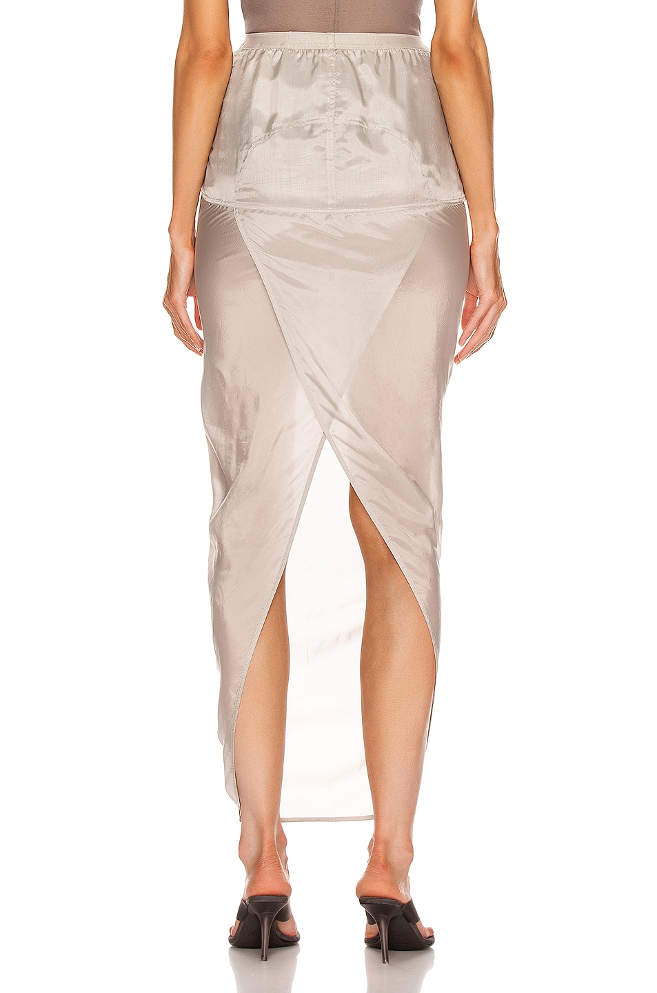 Image 3 of Rick Owens Soft Pillar Skirt in Oyster