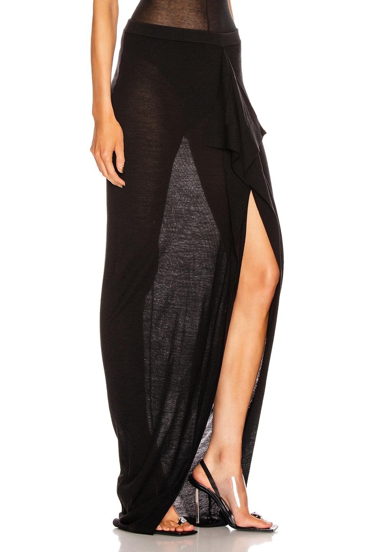 Image 2 of Rick Owens Soft Grace Skirt in Black