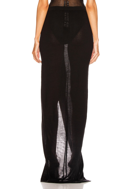 Image 4 of Rick Owens Soft Grace Skirt in Black