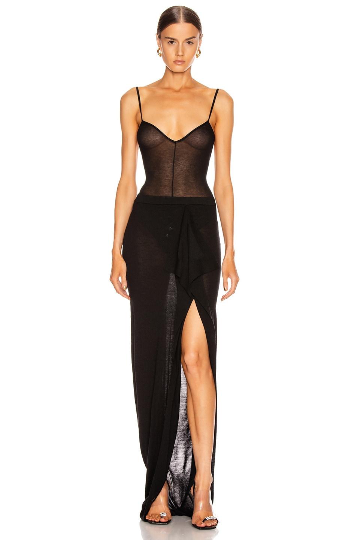 Image 5 of Rick Owens Soft Grace Skirt in Black