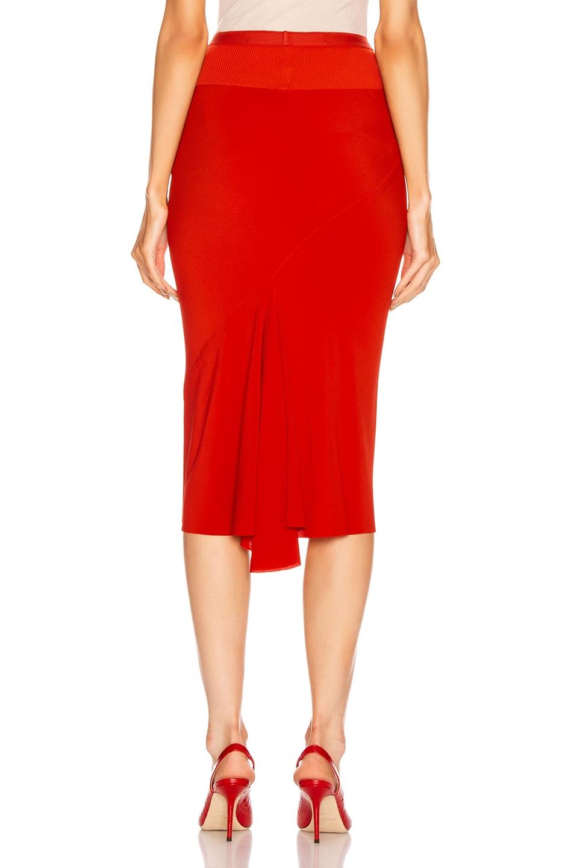 Image 3 of Rick Owens Knee Length Skirt in Cardinal Red