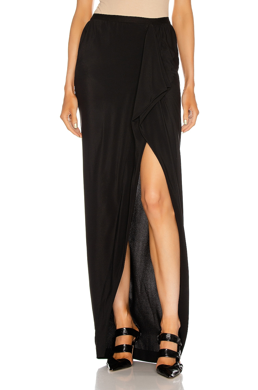 Image 1 of Rick Owens Grace Long Skirt in Black