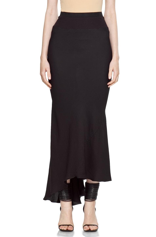 Image 1 of Rick Owens Key Back Skirt in Black
