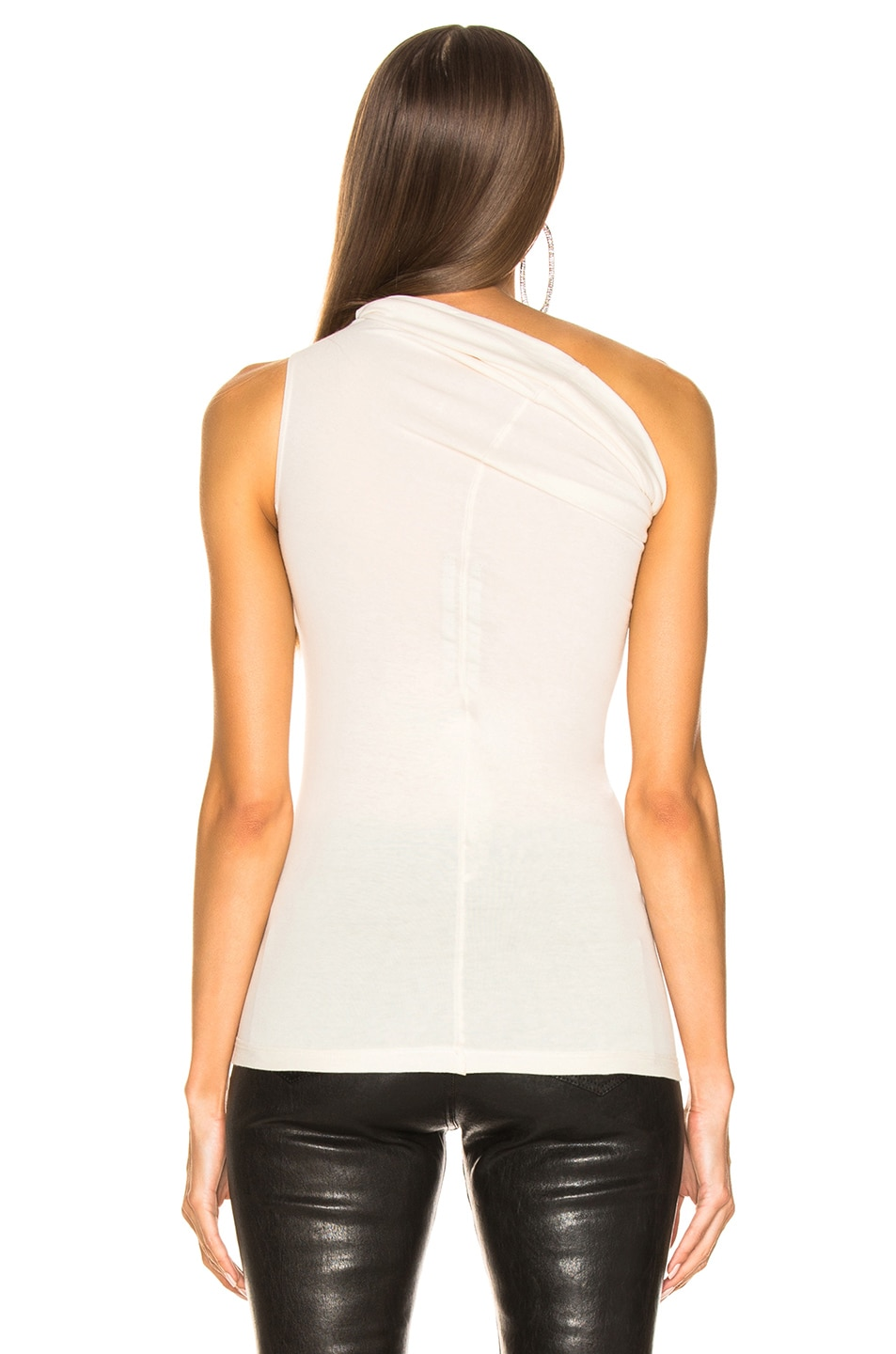 4a89e9013 Image 3 of Rick Owens One Shoulder Tee in Natural