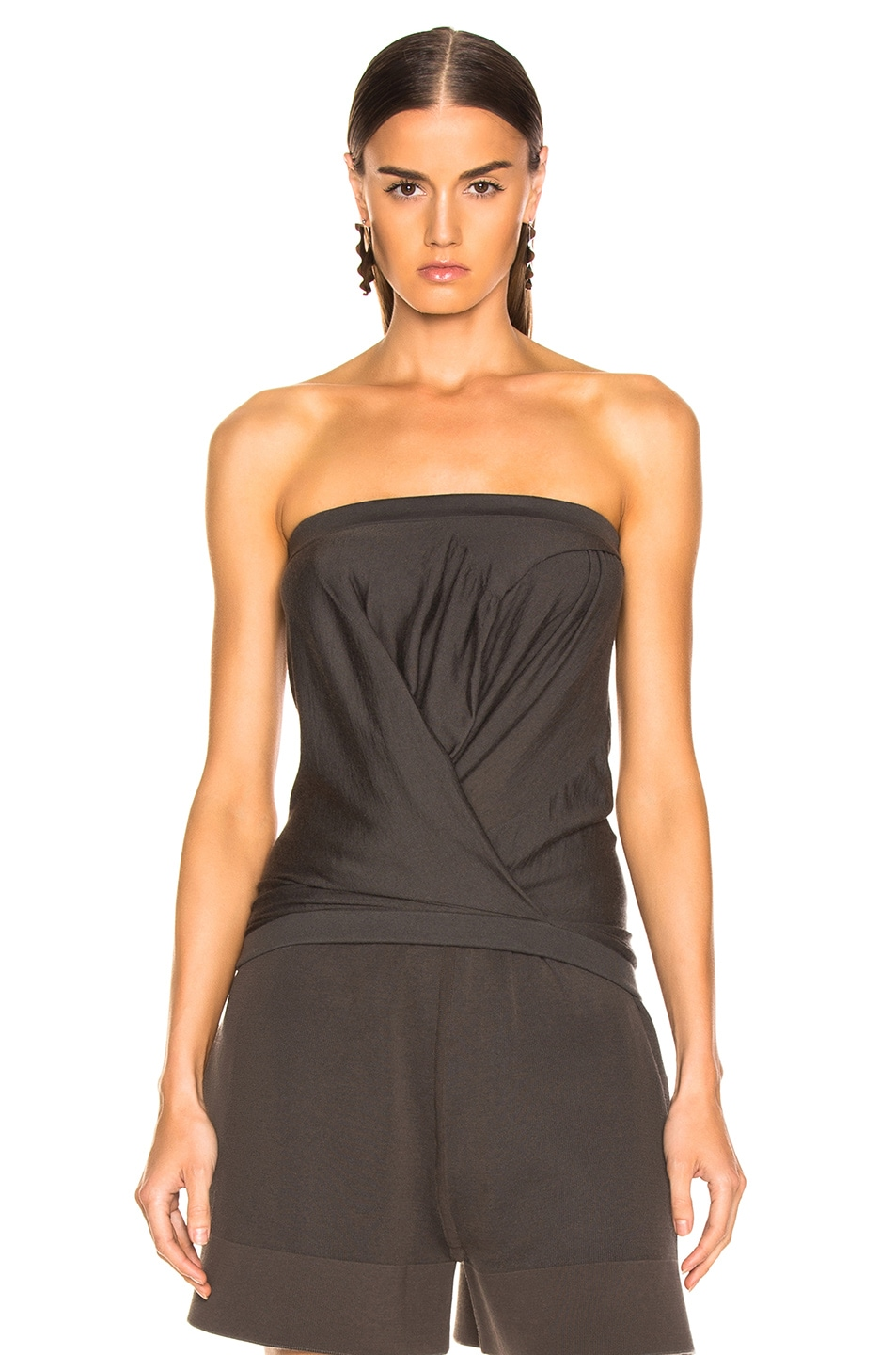 Image 1 of Rick Owens Maglia Bustier Top in Dark dust