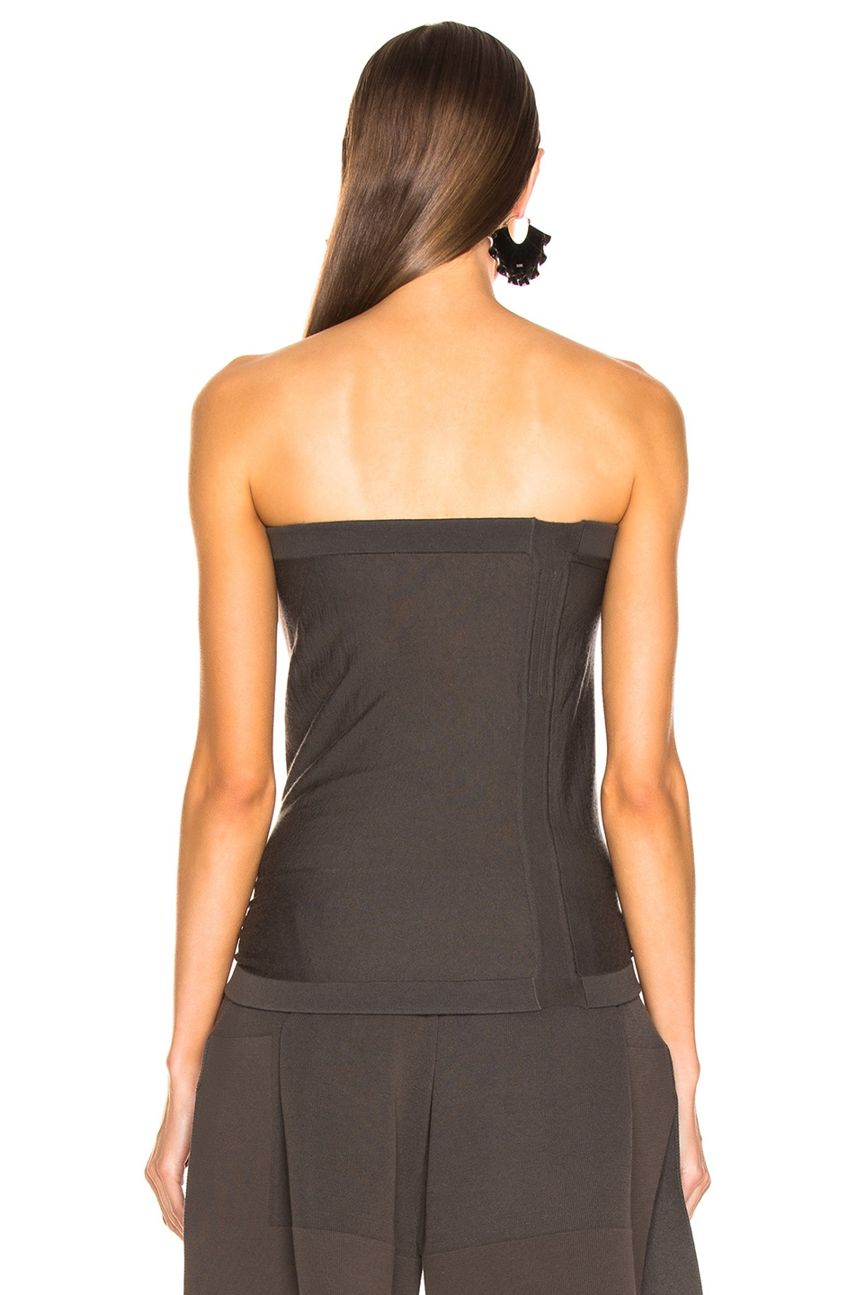 Image 3 of Rick Owens Maglia Bustier Top in Dark dust