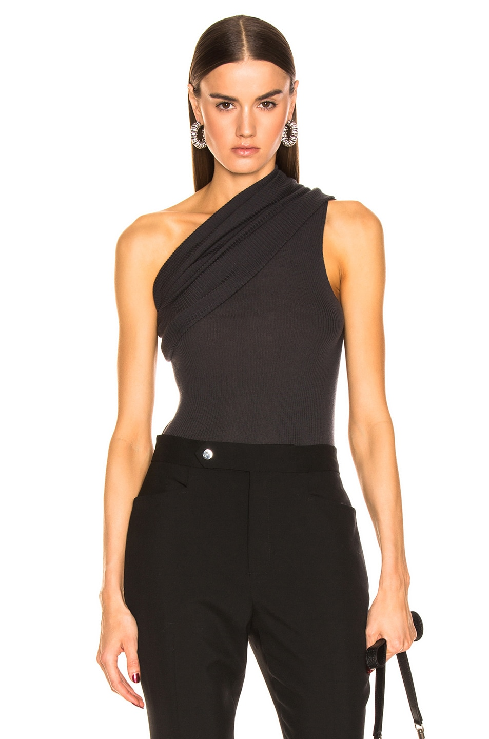 Image 1 of Rick Owens One Shoulder Top in Blujay
