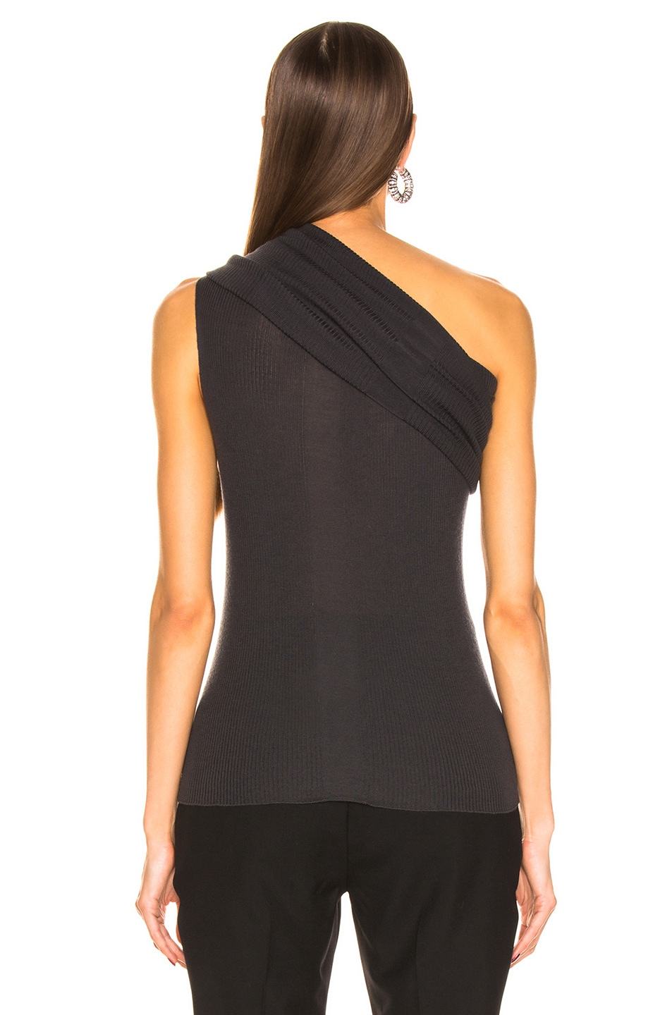 Image 3 of Rick Owens One Shoulder Top in Blujay