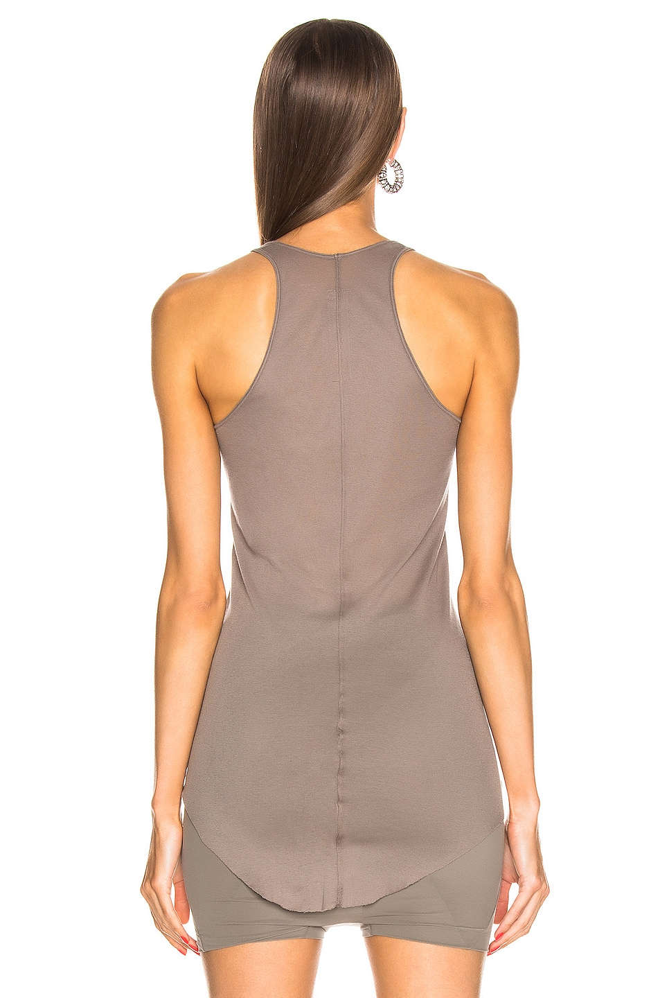 Image 3 of Rick Owens Basic Rib Tank Top in Dust