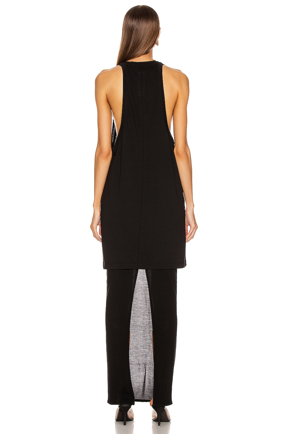 Image 3 of Rick Owens Open Tank Top in Black
