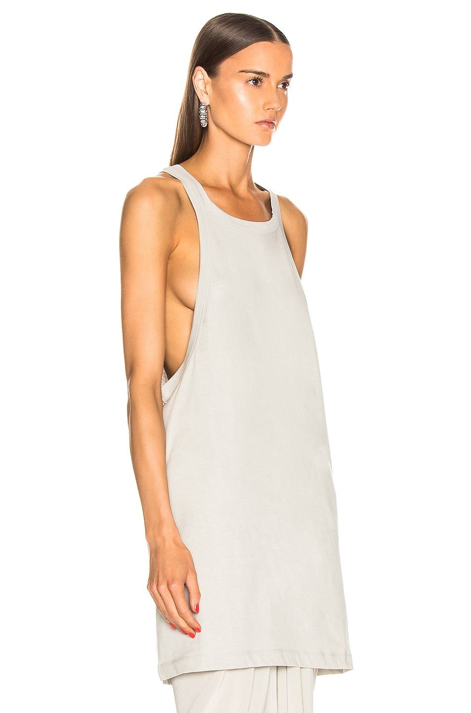 Image 2 of Rick Owens Open Tank Top in Oyster