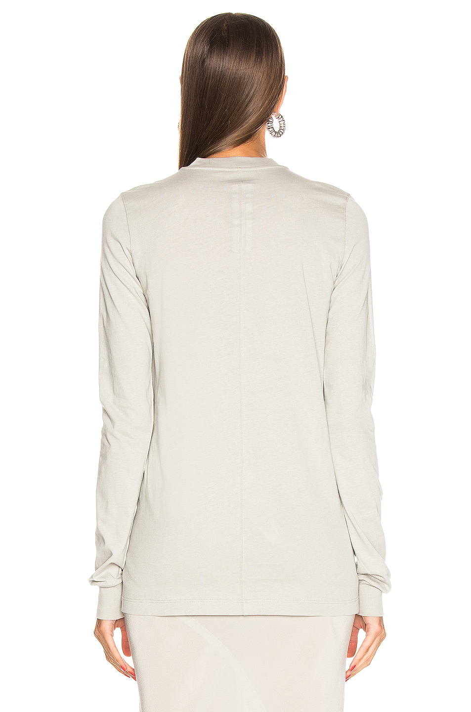 Image 3 of Rick Owens Long Sleeve Tee in Oyster