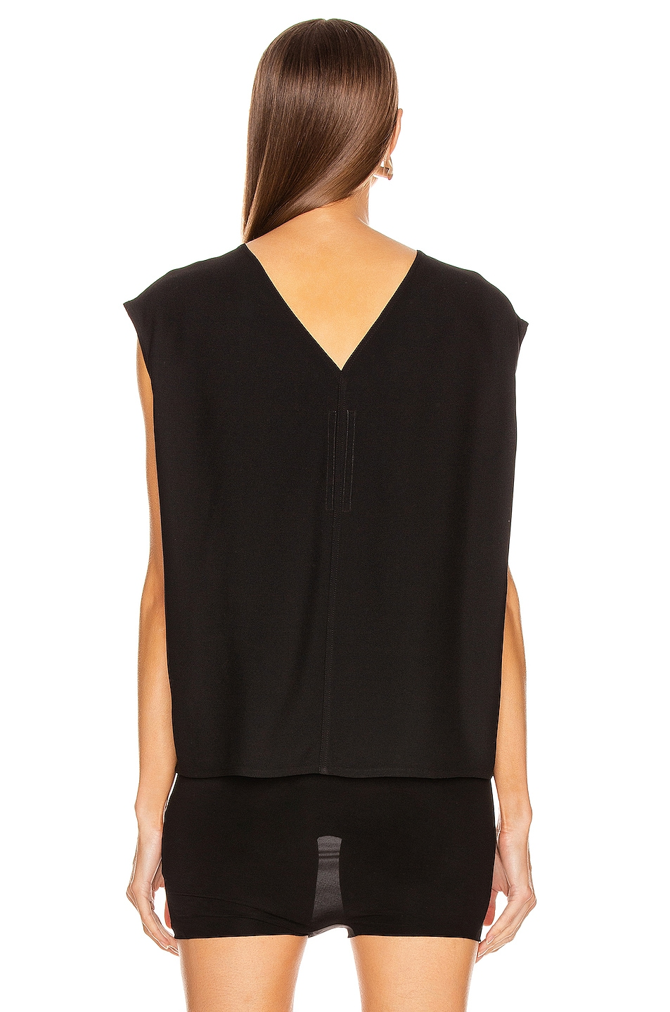 Image 3 of Rick Owens Double V Top in Black