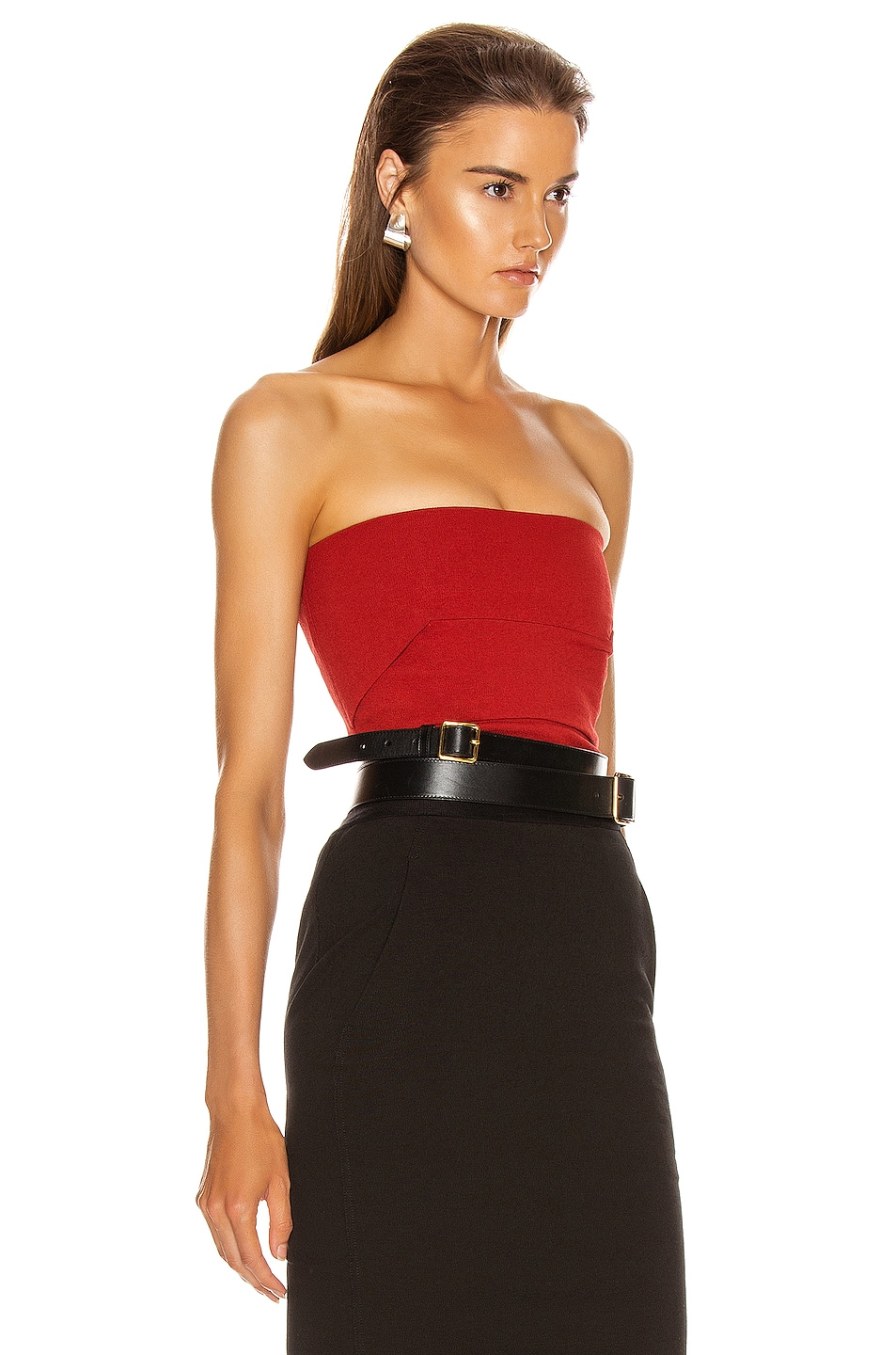 Image 2 of Rick Owens Bustier Top in Cardinal Red