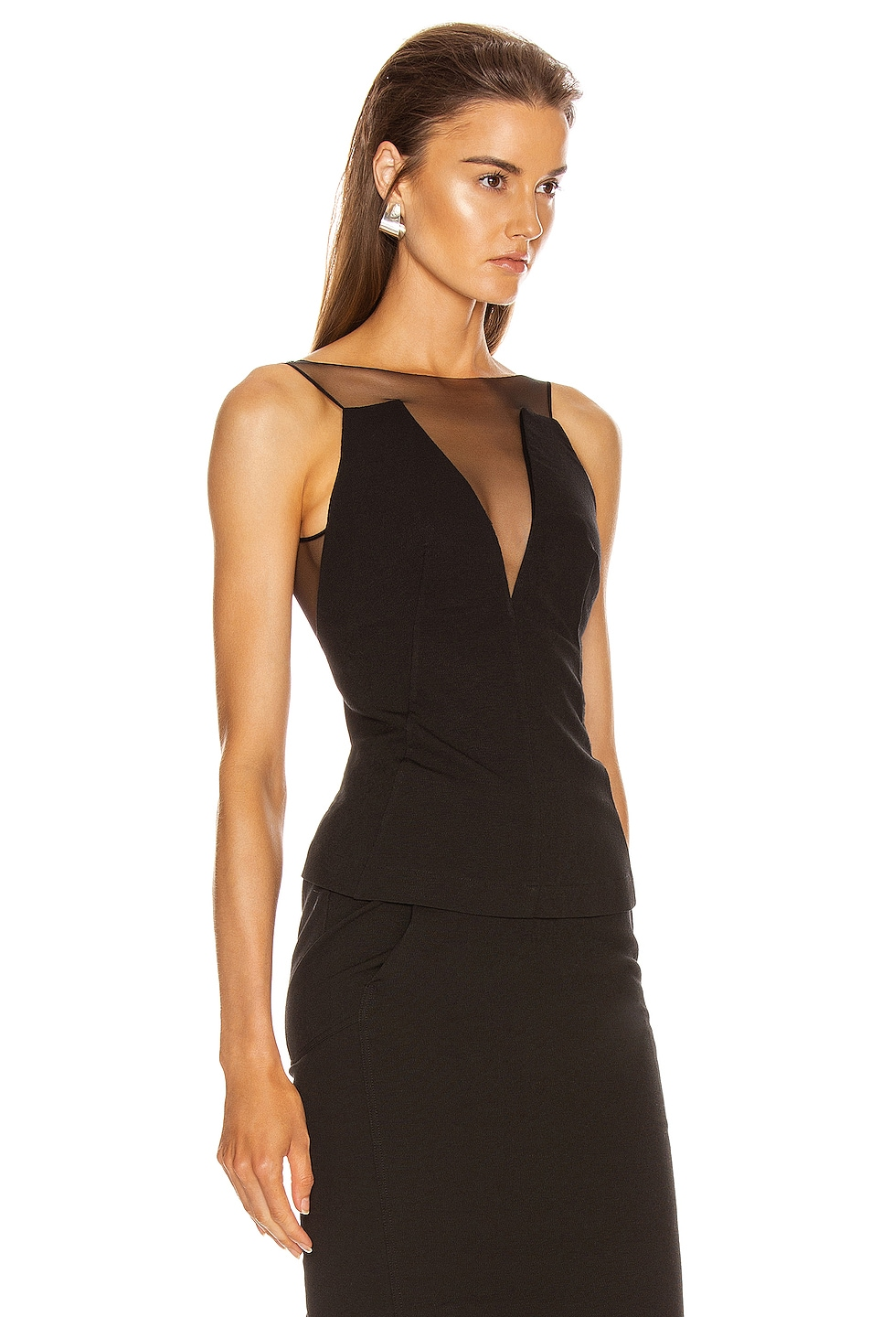 Image 2 of Rick Owens Prong Top in Black