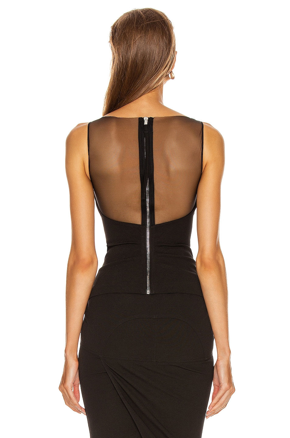 Image 3 of Rick Owens Prong Top in Black