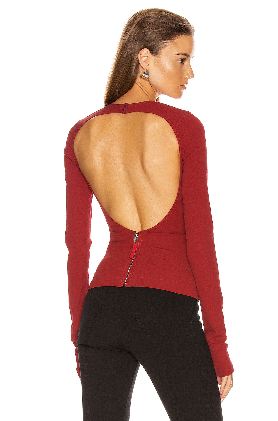 Image 1 of Rick Owens Sade Top in Cardinal Red