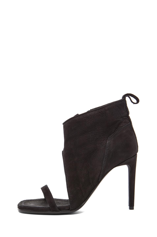 2a47d7987db Image 1 of Rick Owens Suede Spike Sandal Wrap Heels in Black