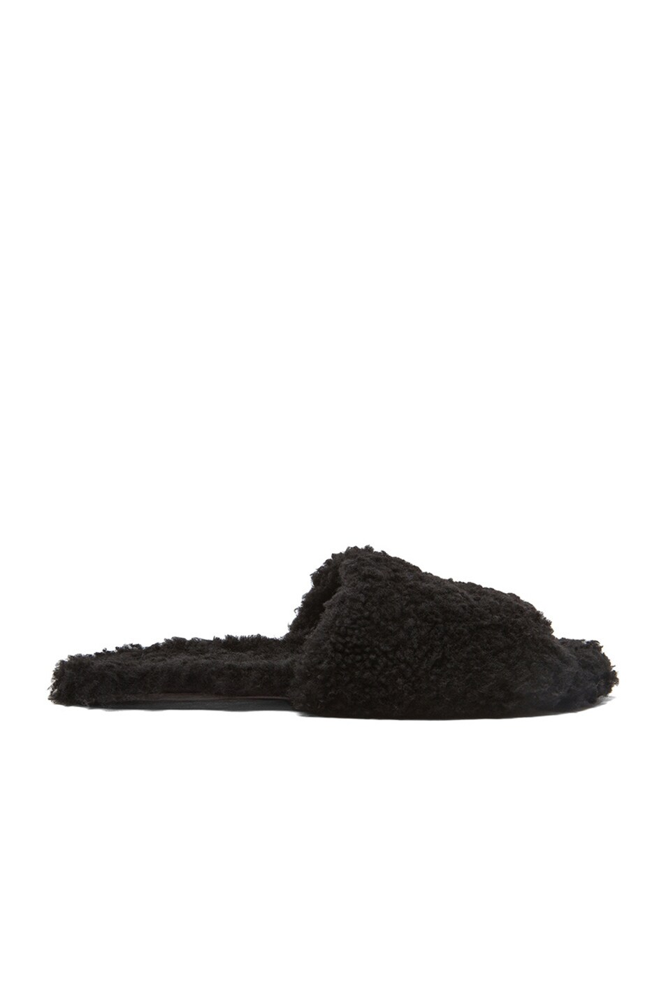 Image 1 of Rick Owens Hotel Shearling Slippers in Black