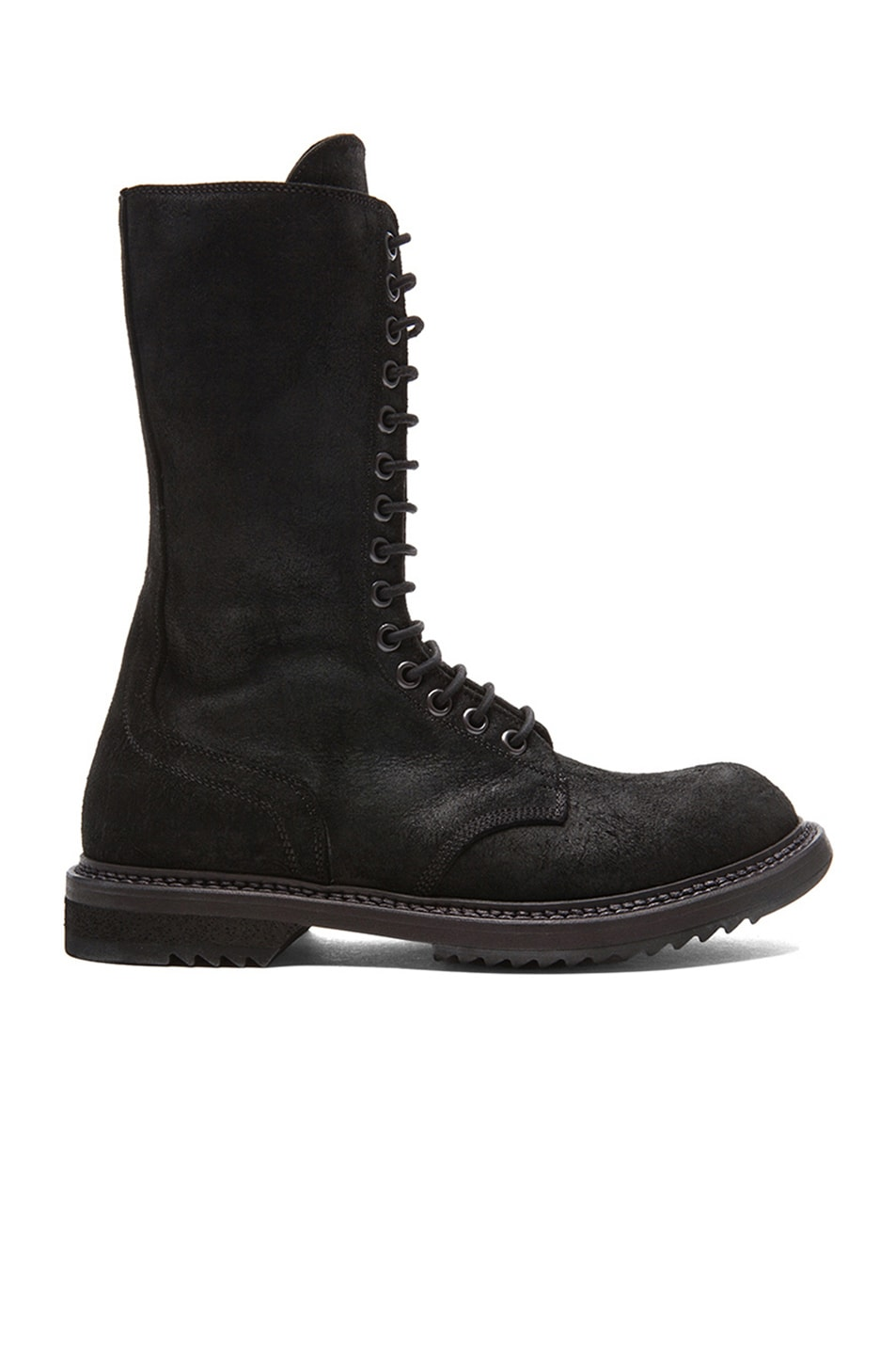 Image 1 of Rick Owens Army Leather Boots in Black