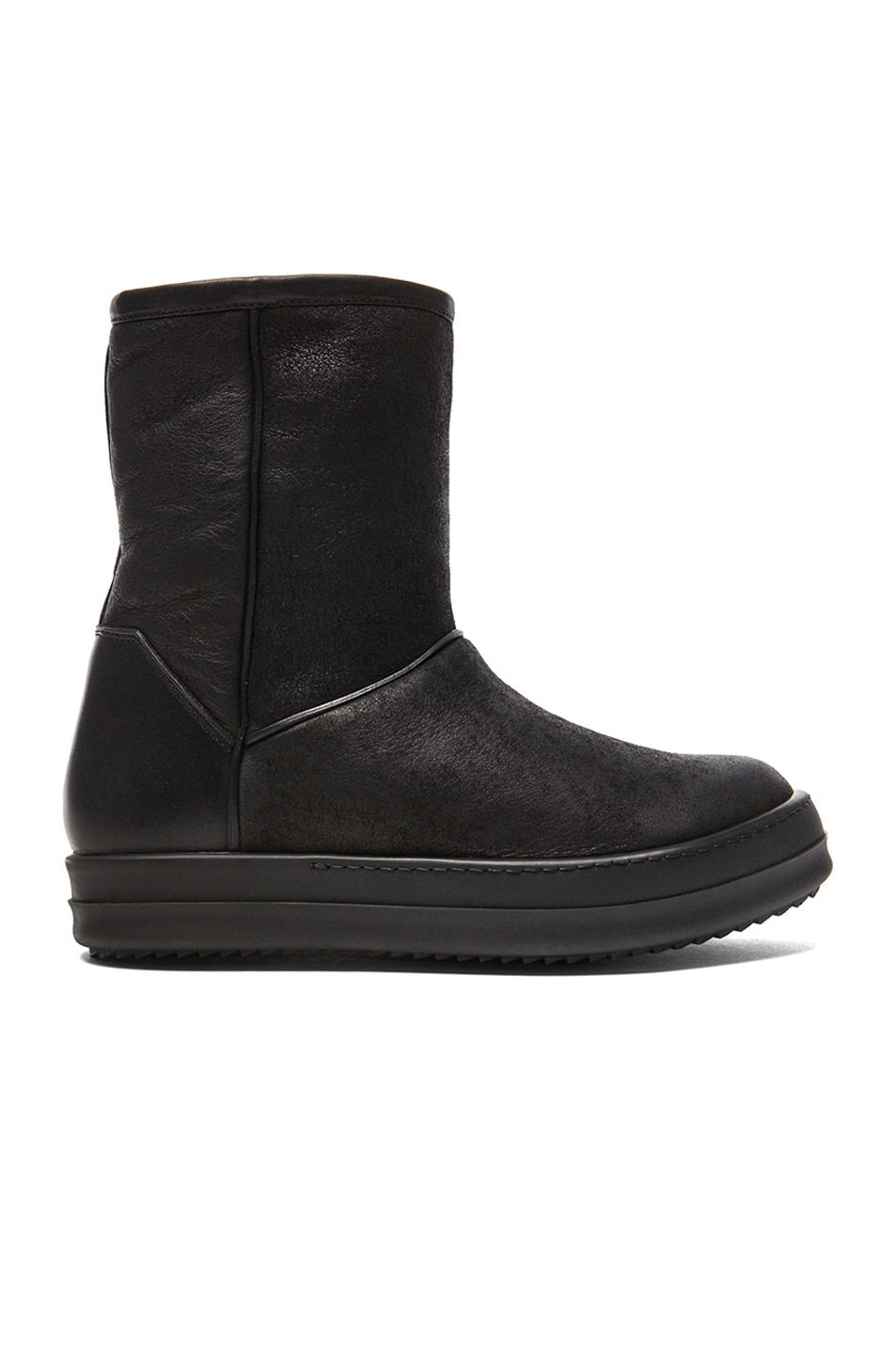 Image 1 of Rick Owens Shearling Ankle Boots in Black