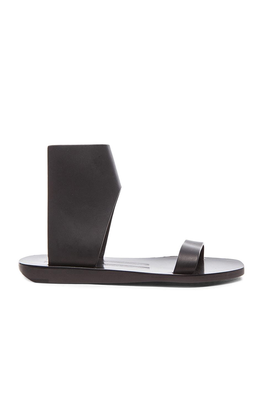 Image 1 of Rick Owens Sliver Leather Sandals in Black