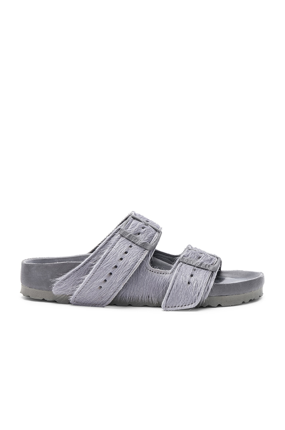 Image 1 of Rick Owens x Birkenstock Cow Hair Arizona Sandals in Grey