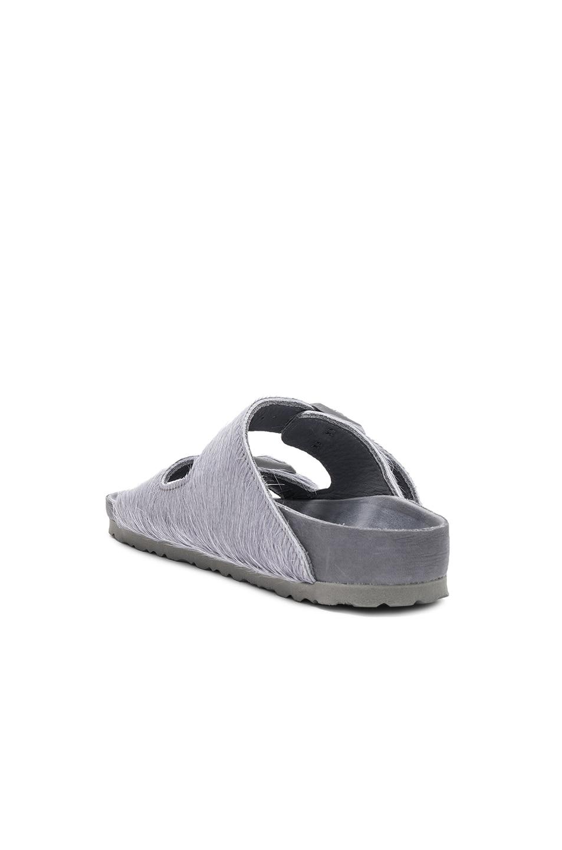 Image 3 of Rick Owens x Birkenstock Cow Hair Arizona Sandals in Grey