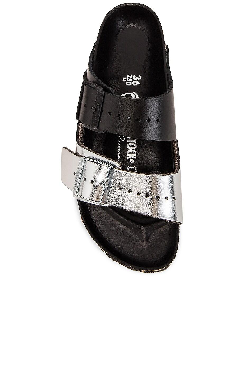 Image 4 of Rick Owens x Birkenstock Combo Arizona Sandal in Black & Silver