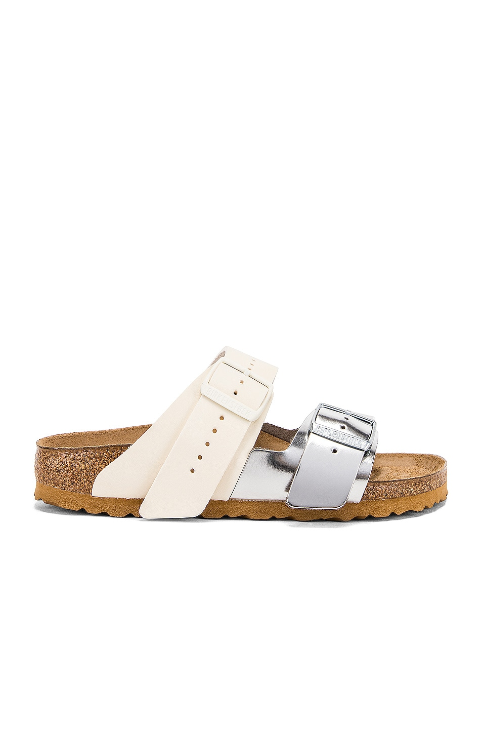 Image 1 of Rick Owens x Birkenstock Combo Arizona Sandal in Oyster & Silver