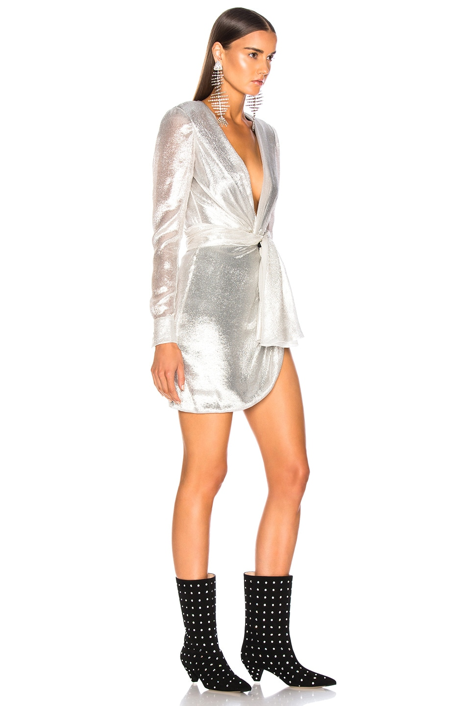 Image 2 of Redemption for FWRD Long Sleeve Dress in Silver