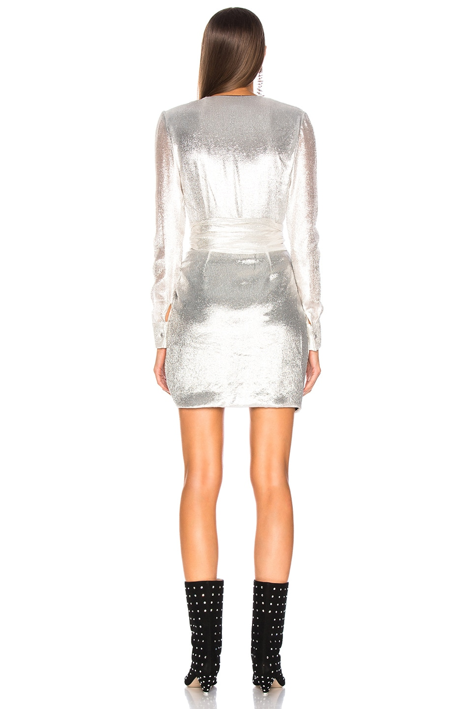 Image 4 of Redemption for FWRD Long Sleeve Dress in Silver
