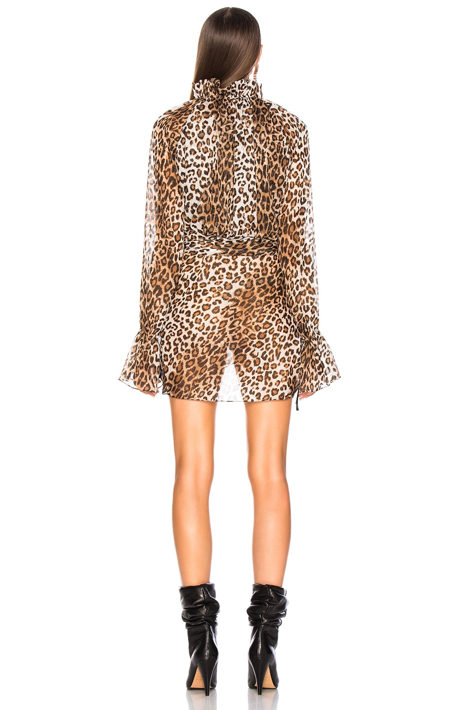 Image 4 of Redemption for FWRD Wrap Front Dress in Leopard