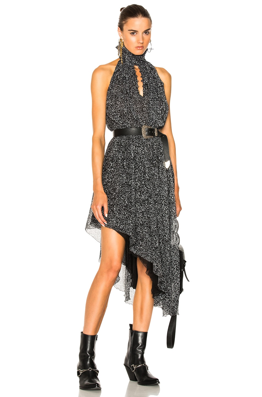 Redemption Animalier Print Asymmetric Dress in Grey