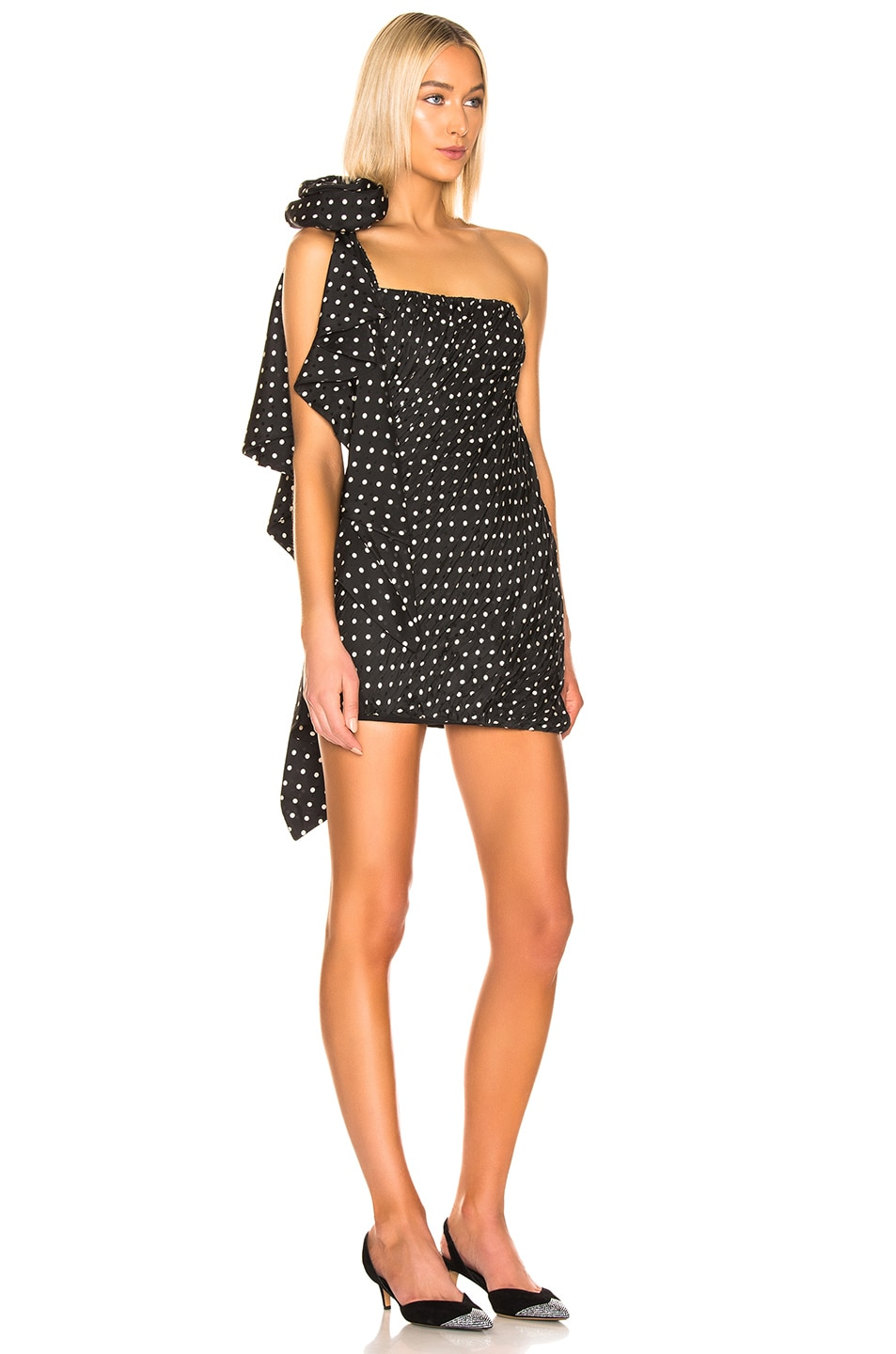 Image 2 of Redemption Pois Mini Dress in Black