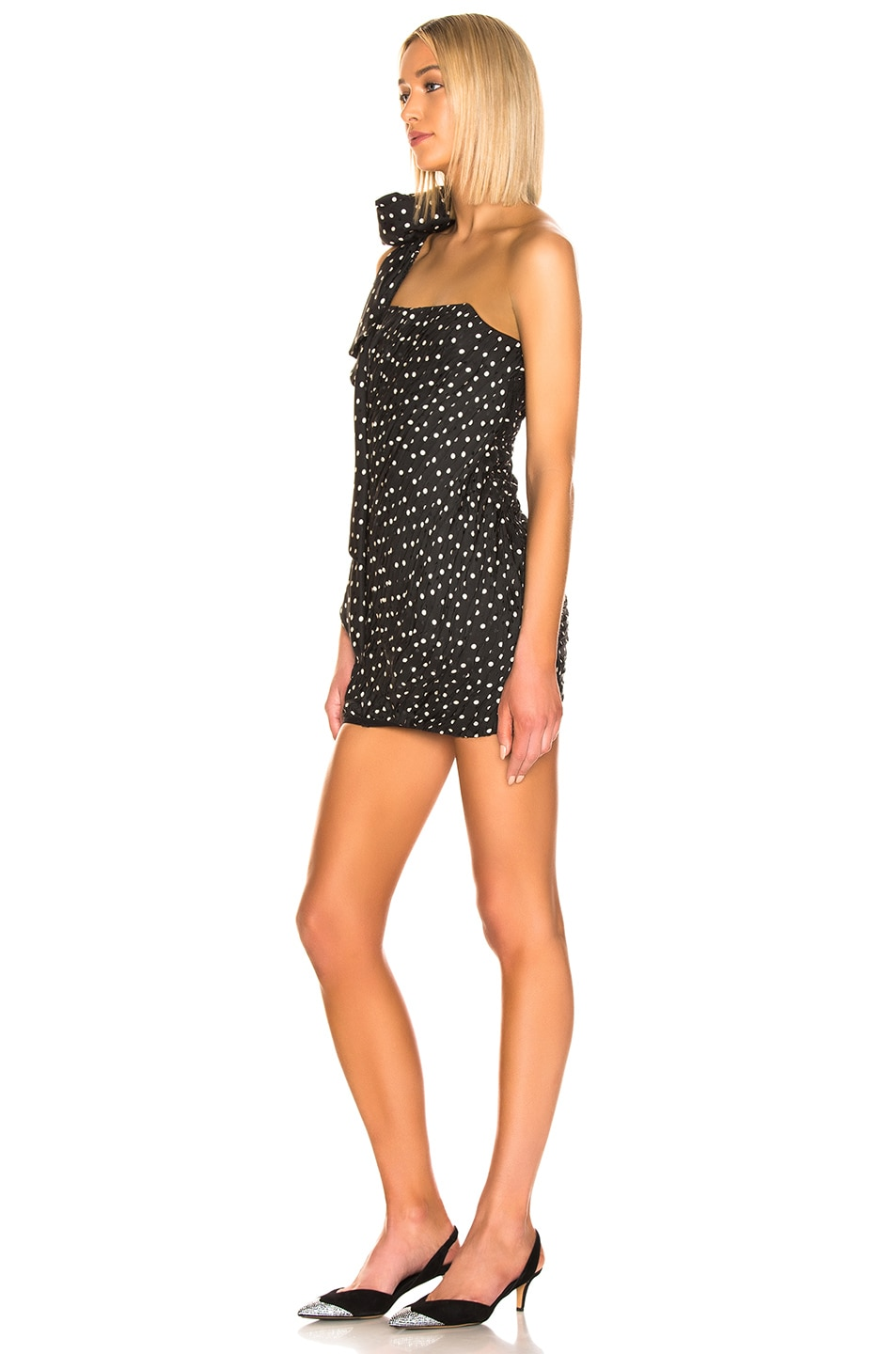 Image 3 of Redemption Pois Mini Dress in Black