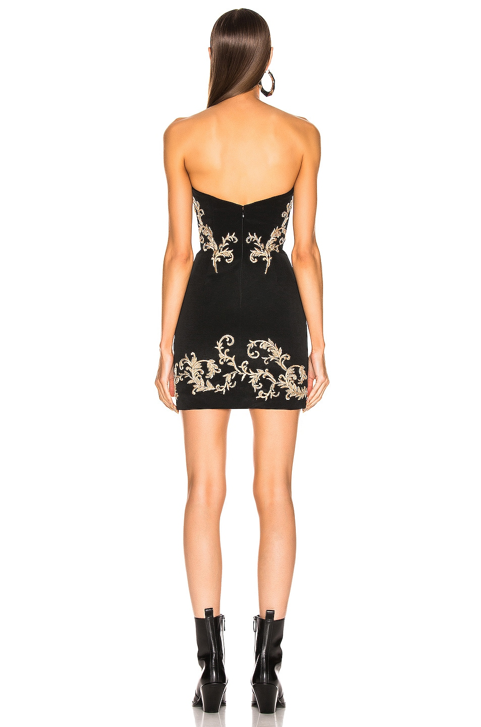 Image 3 of Redemption Gold Embroidered Mini Dress in Black