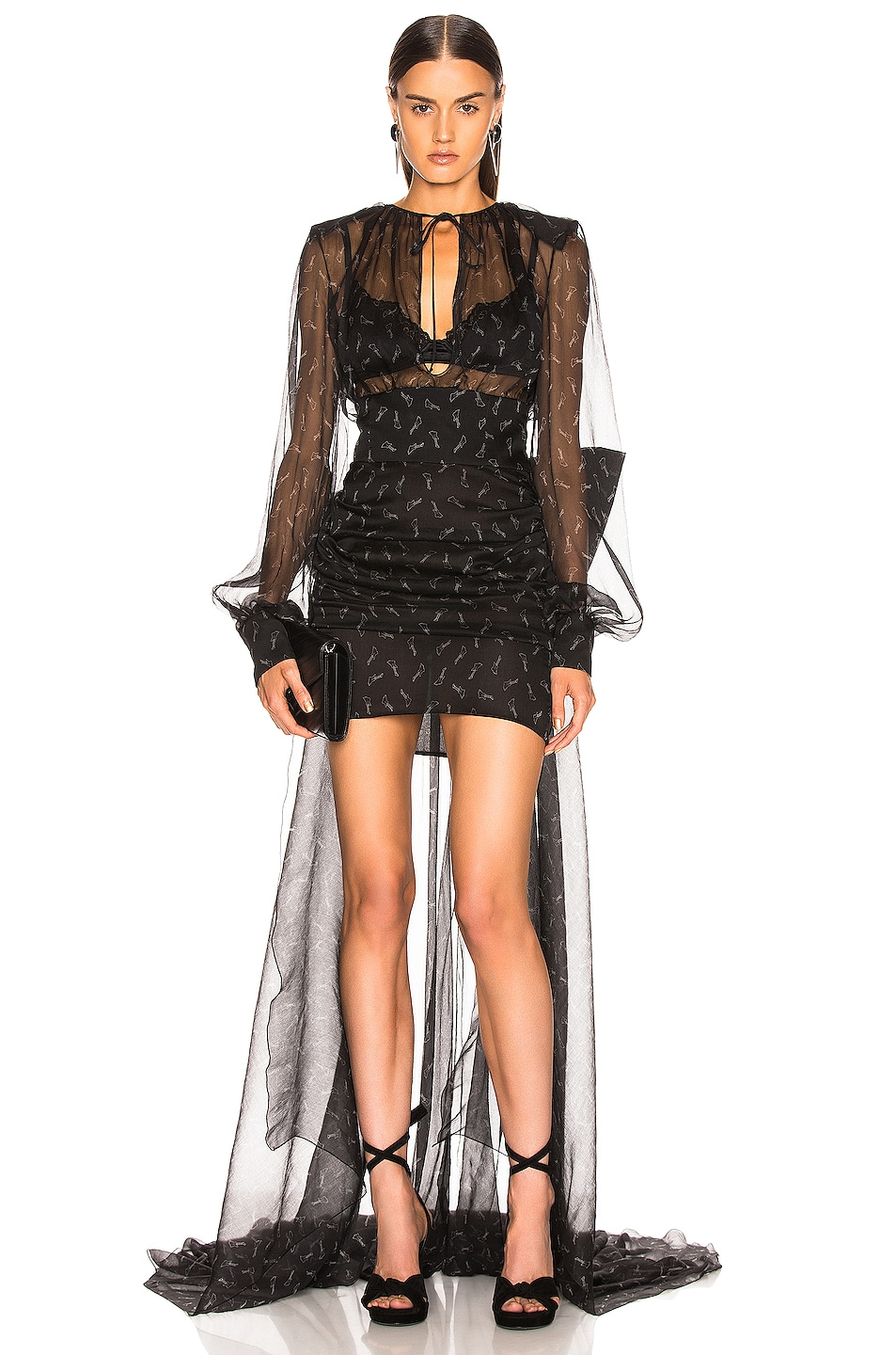 Image 1 of Redemption Mini Guitar Tail Dress in Black