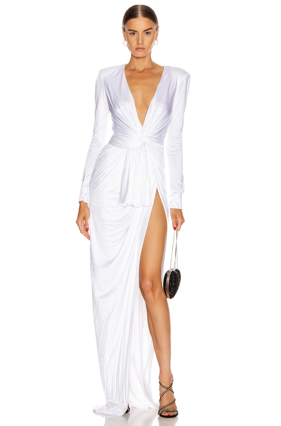 Image 1 of Redemption Draped Long Dress in White
