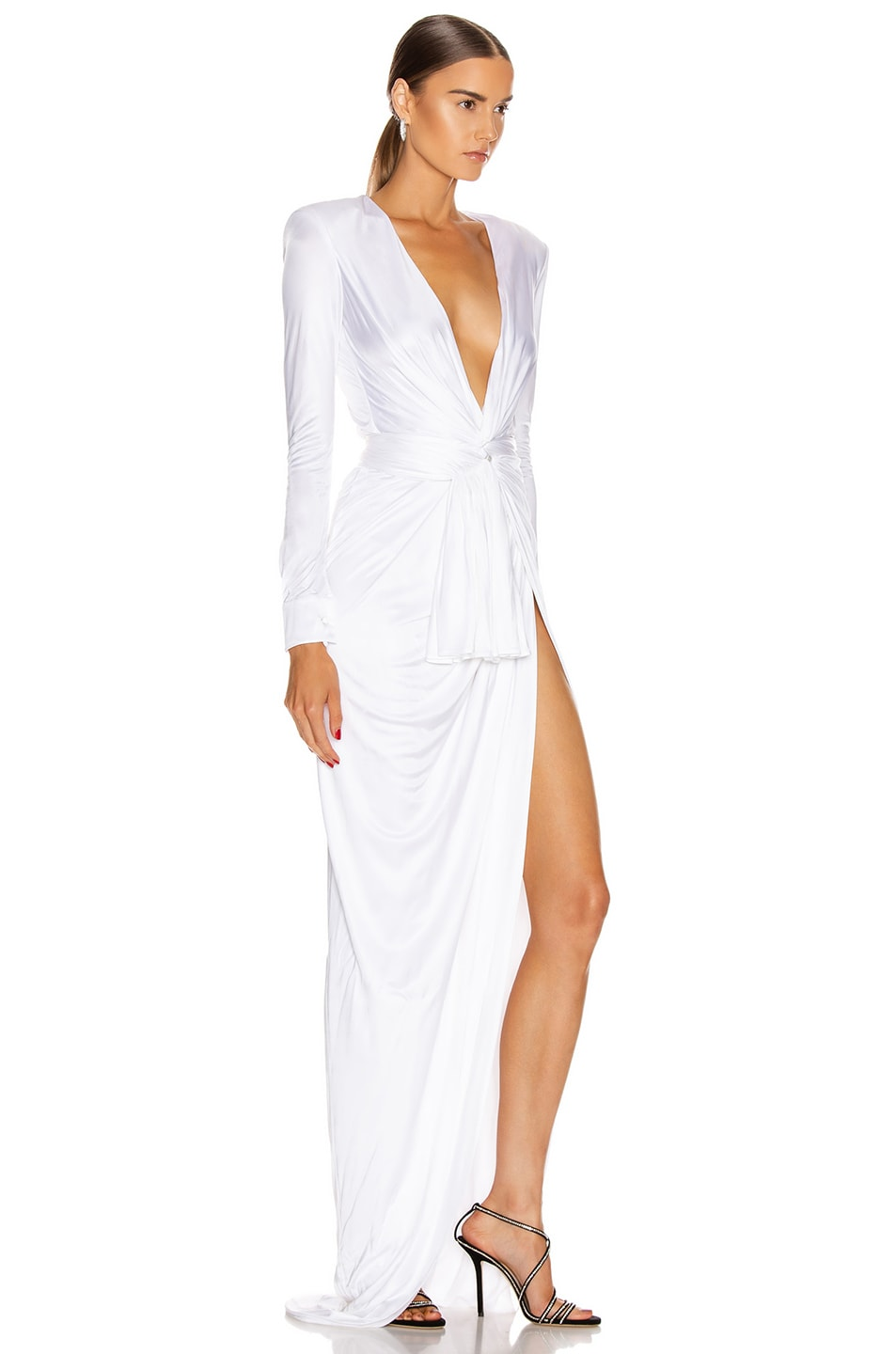 Image 2 of Redemption Draped Long Dress in White