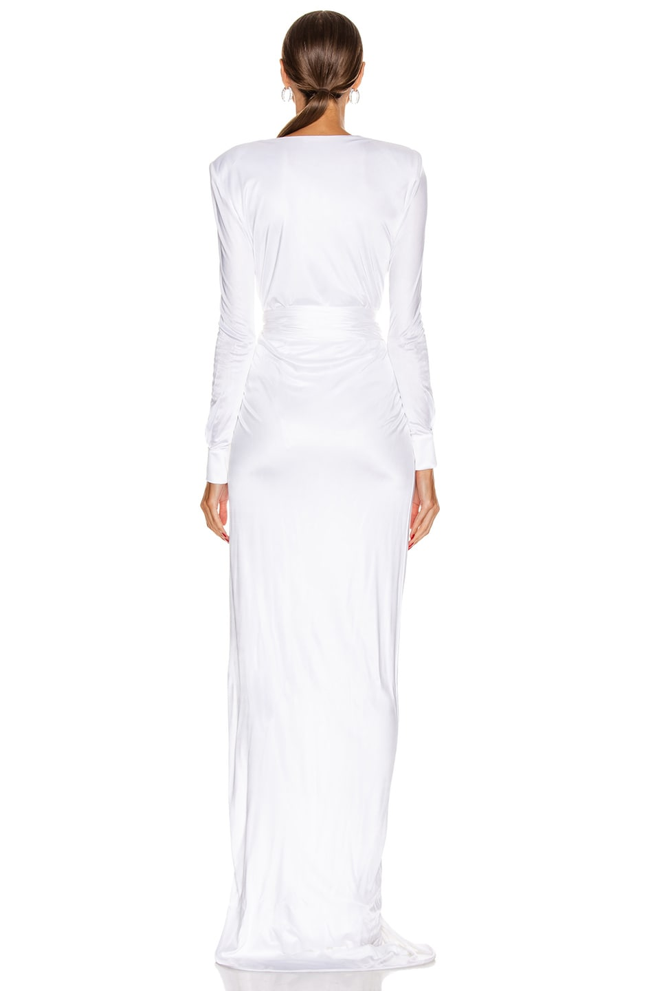 Image 4 of Redemption Draped Long Dress in White
