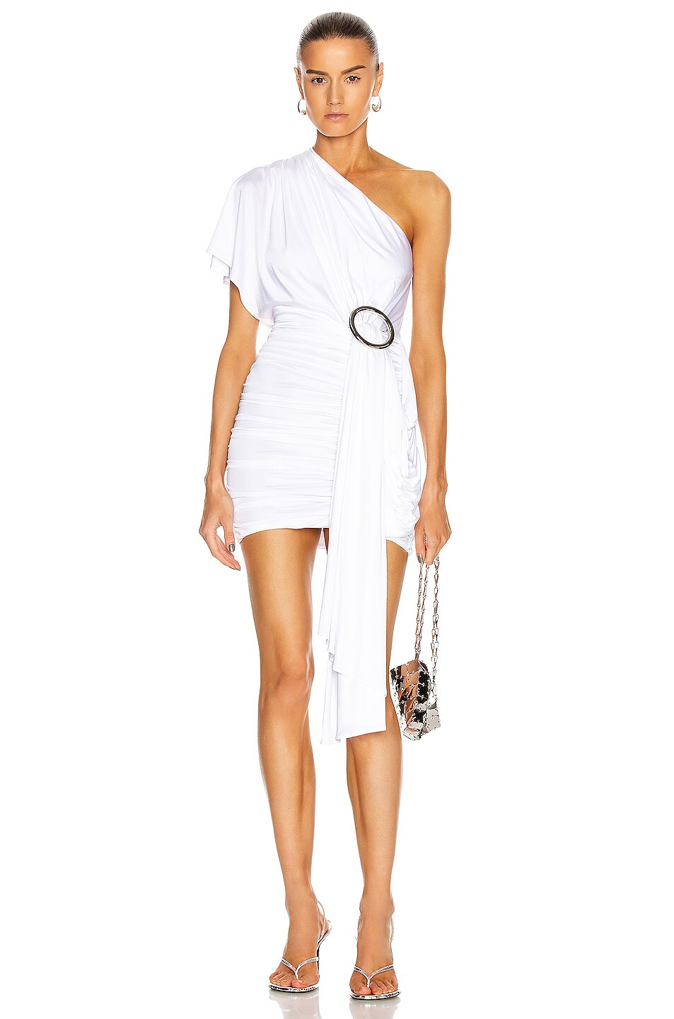 Image 1 of Redemption One Shoulder Dress in White