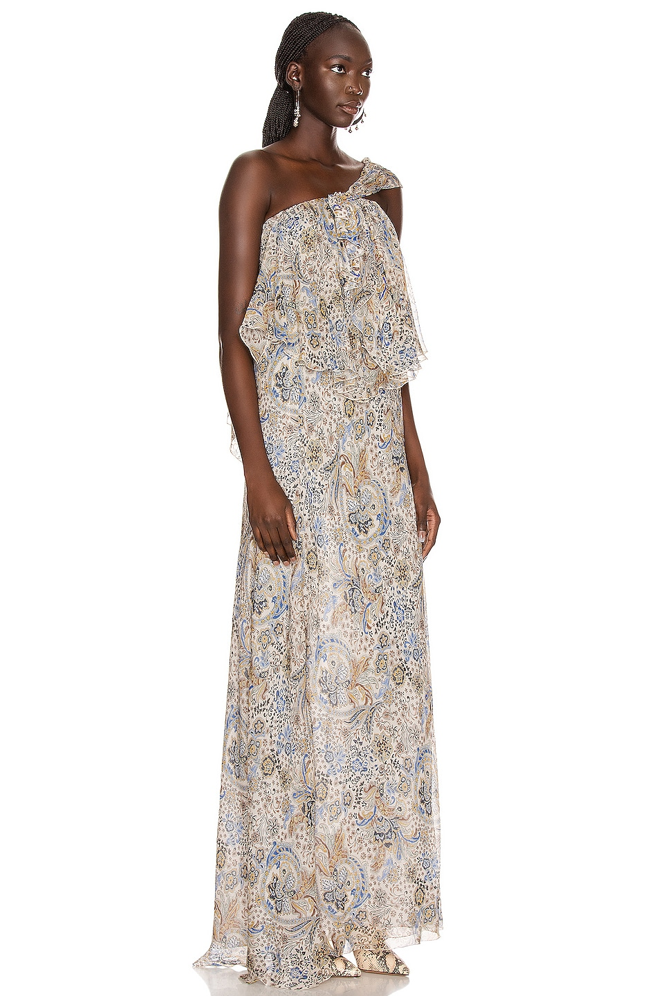 Image 2 of Redemption Paisley Print Long Dress in Paisley