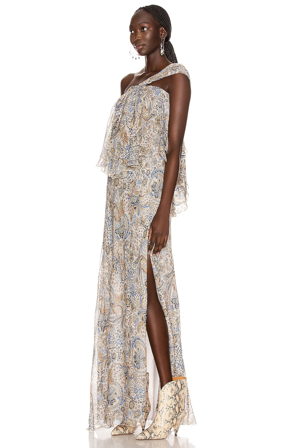 Image 3 of Redemption Paisley Print Long Dress in Paisley