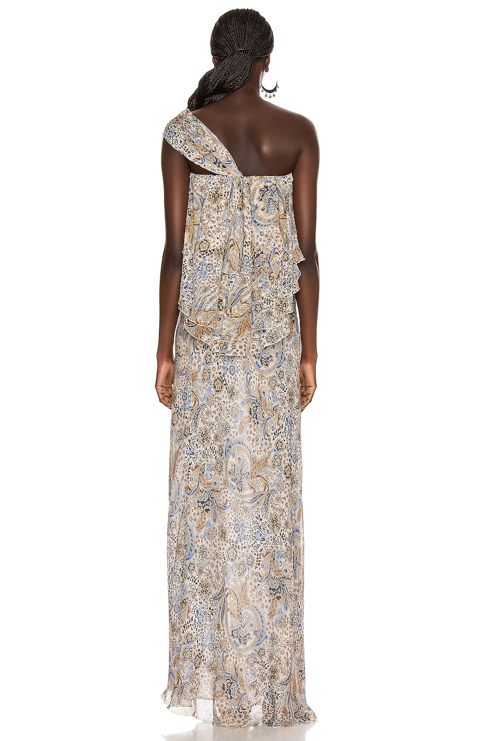 Image 4 of Redemption Paisley Print Long Dress in Paisley
